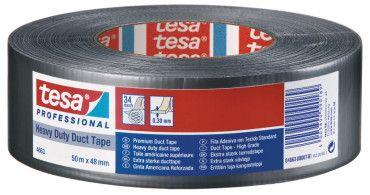 Tesa 4663 Duct Tape® Premium-Steinband silber/matt